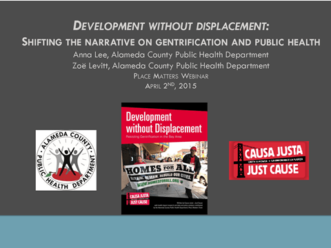 """Development Without Displacement: Shifting the Narrative on Gentrification and Public Health"""