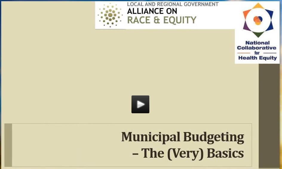 Local Government Budgeting and Racial Equity