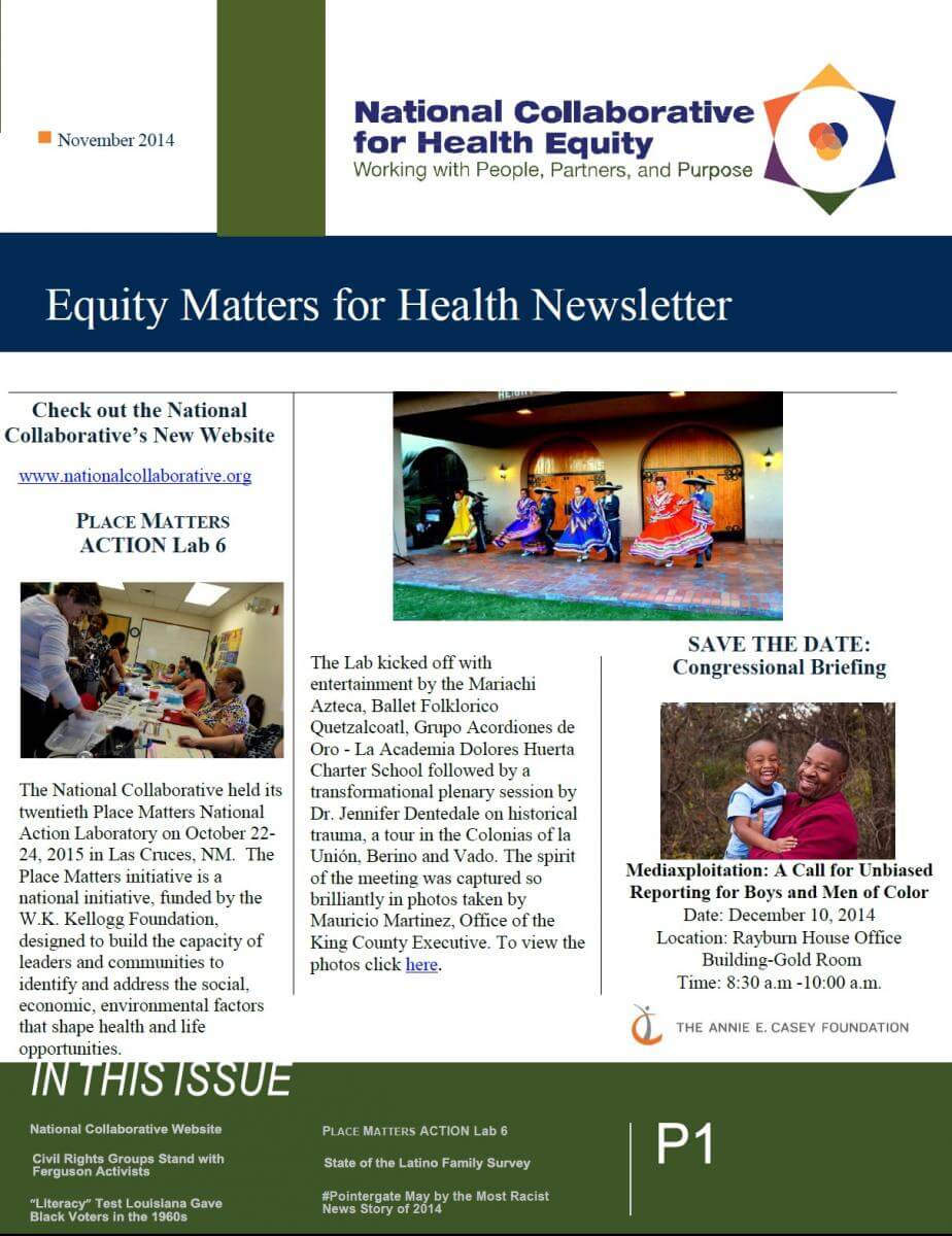 Equity Matters for Health Newsletter – November 2014