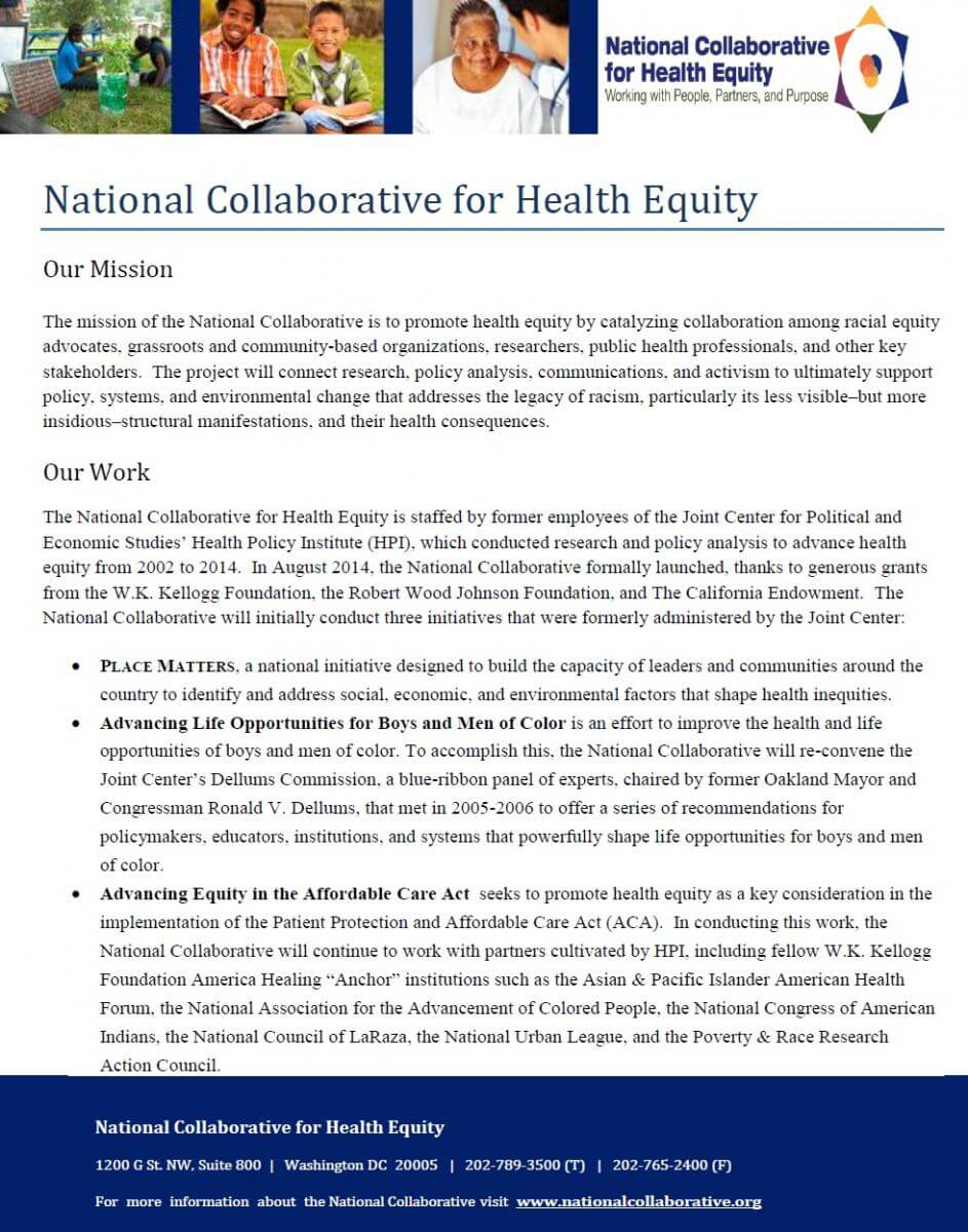 National Collaborative Fact Sheet