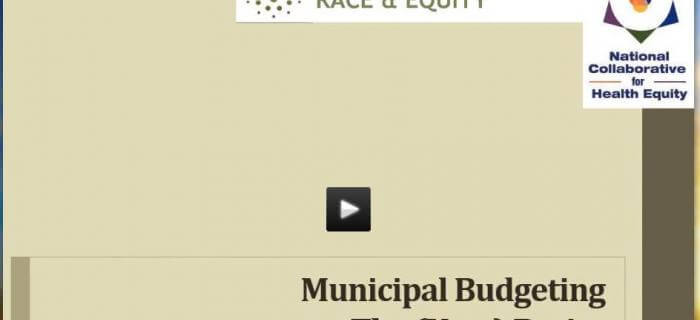 Webinar Now Available: Local Government Budgeting and Racial Equity