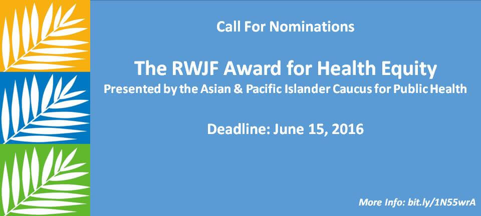A Call for Nominations for the RWJF Award for Health Equity