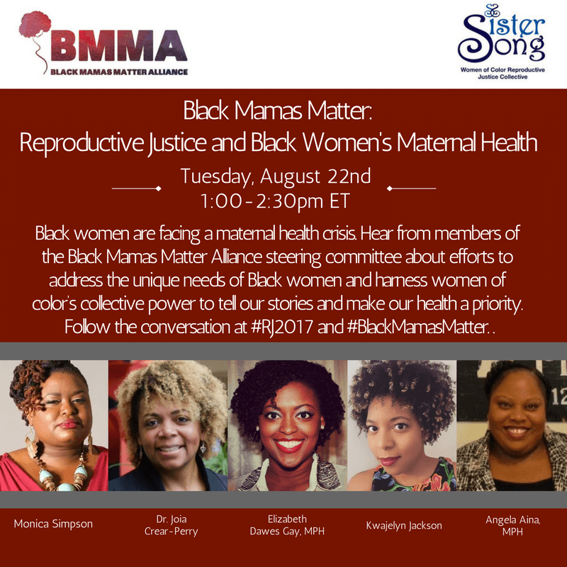 Black Mamas Matter Webinar:  Reproductive Injustice: Racial and Gender Discrimination in U.S. Health Care