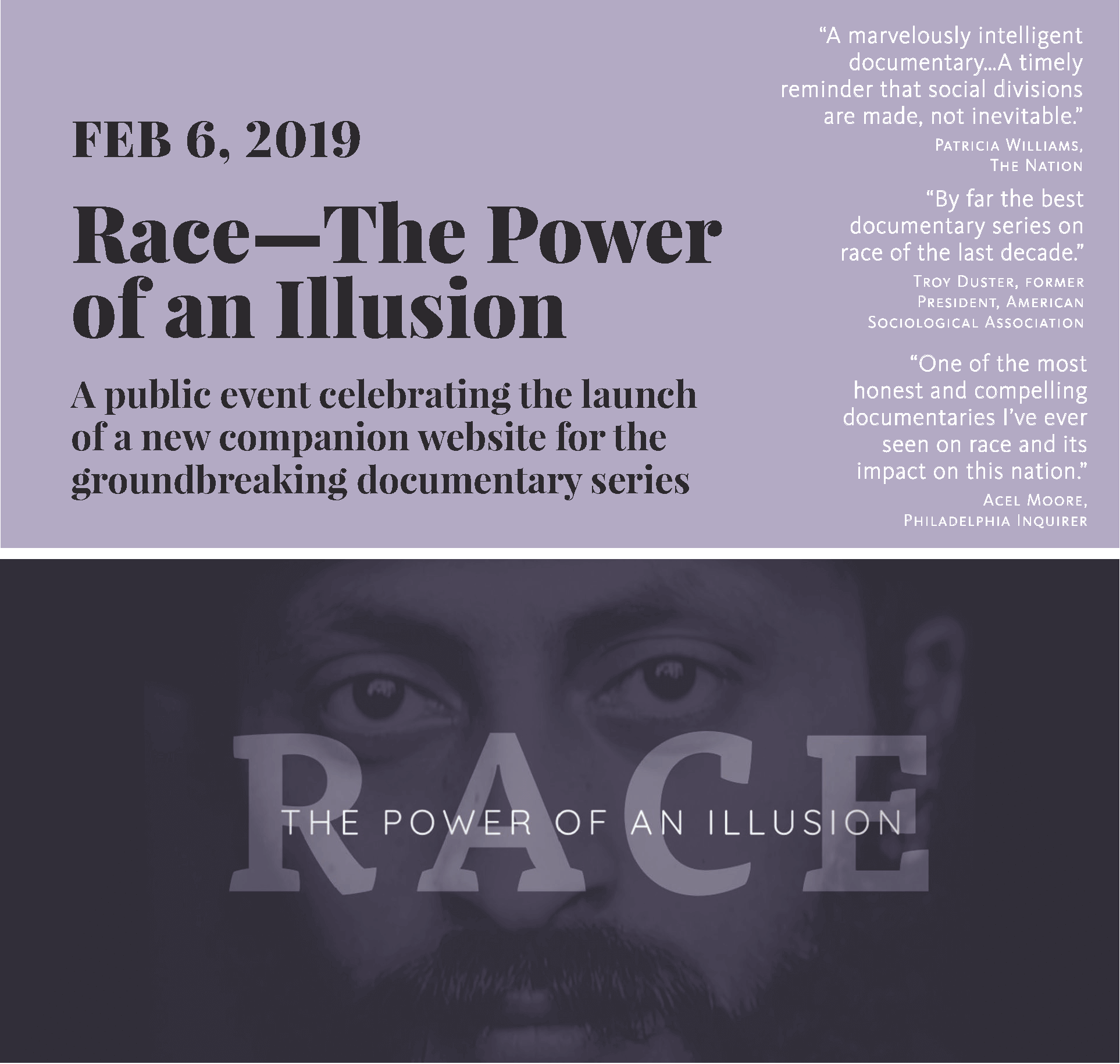 Join the Open Forum RACE – The Power of an Illusion