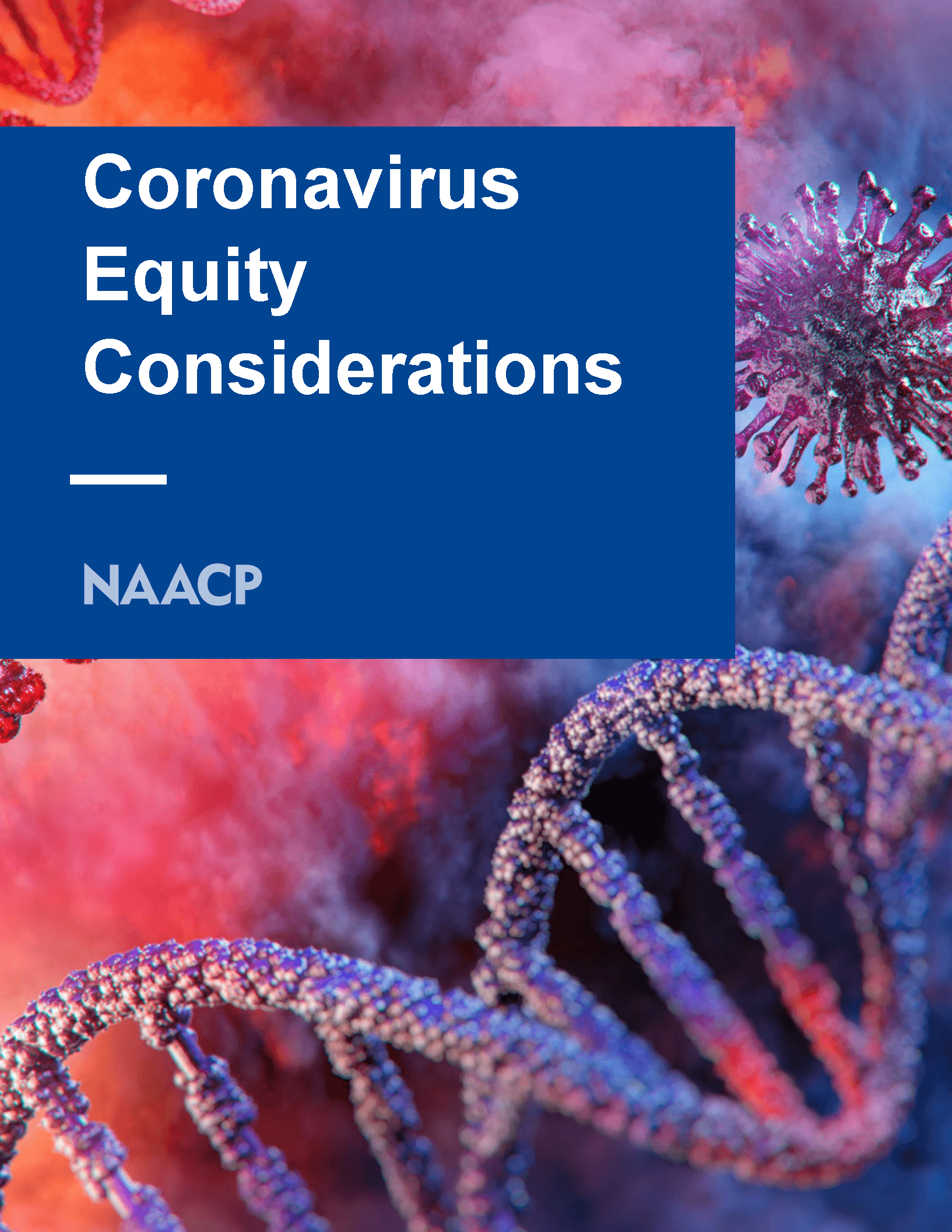NAACP: Coronavirus Equity Considerations