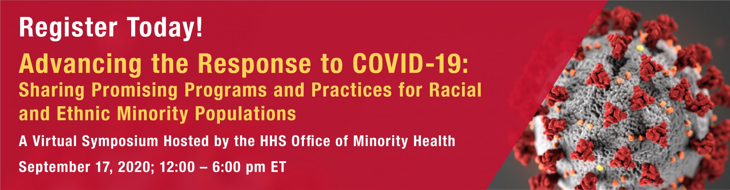 Virtual Symposium: Advancing the Response to COVID-19: Sharing Promising Programs and Practices for Racial and Ethnic Minority Communities