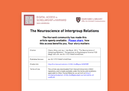 The Neuroscience of Intergroup Relations